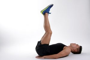 vertical leg crunch