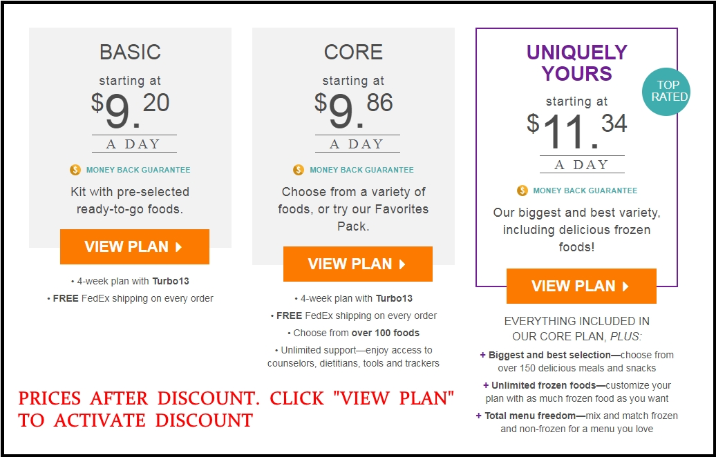 nutrisystem cost with 40 off